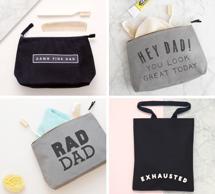wash bags for father's day!