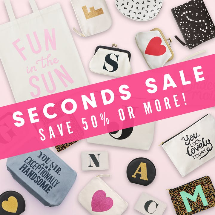 Alphabet Bags seconds sale