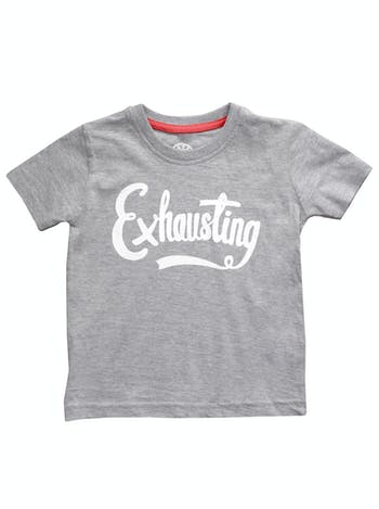 938fcb50 Exhausting Toddler T Shirt | Kid's Slogan Shirts | Alphabet Bags