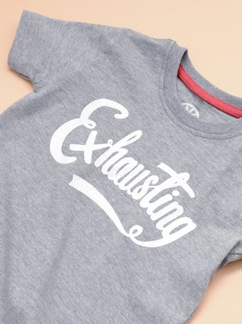 Exhausting - Kids T-Shirt - Second