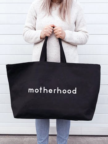 MOTHERHOOD Really Big Bag | Slogan Totes | Alphabet Bags