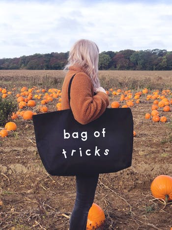 BAG OF TRICKS Really Big Bag | Slogan Totes | Alphabet Bags
