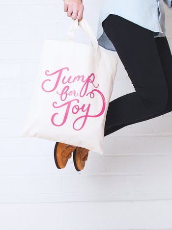 Jump For Joy Tote Bag | BerinMade | Alphabet Bags