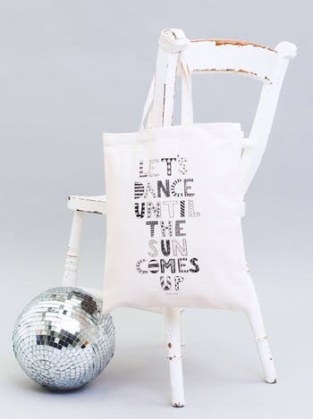 Dance Until the Sun Comes Up Tote Bag | Erin McIntyre | Alphabet Bags