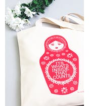 It's What's Inside That Counts - Hazel Nicholls for Alphabet Bags