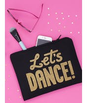 Let's Dance - Black Canvas Pouch