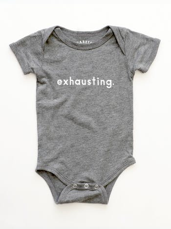 Exhausting - Grey Baby Bodysuit