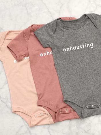Exhausting - Peach Baby Bodysuit