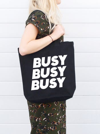 Busy Busy Busy - Canvas Tote Bag - Second