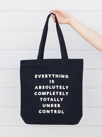 Under Control Tote Bag | Slogan Totes | Alphabet Bags