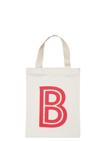 Mini Personalised Tote Bag | Kids Cotton Totes | Alphabet Bags