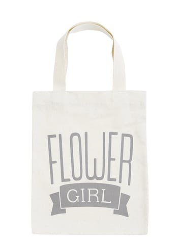 Flower Girl Tote Bag | Bridal Party Tote Bag | Alphabet Bags