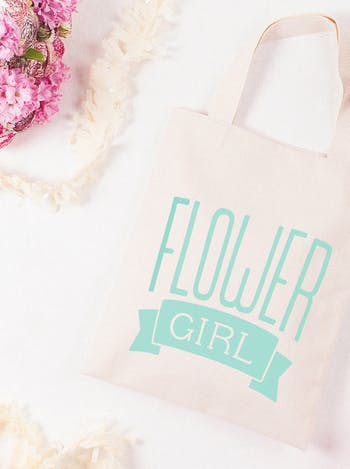 Flower Girl Tote Bag | Wedding Day Bag | Alphabet Bags