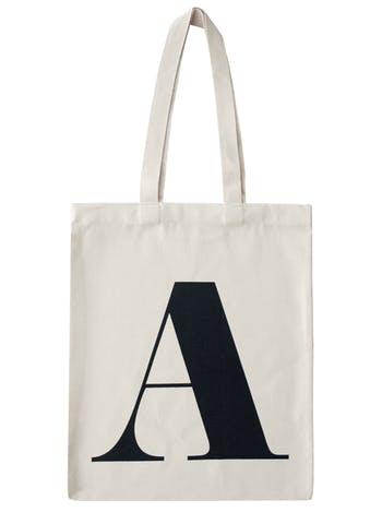 Initial Tote Bag | Personalised Canvas Bags | Alphabet Bags