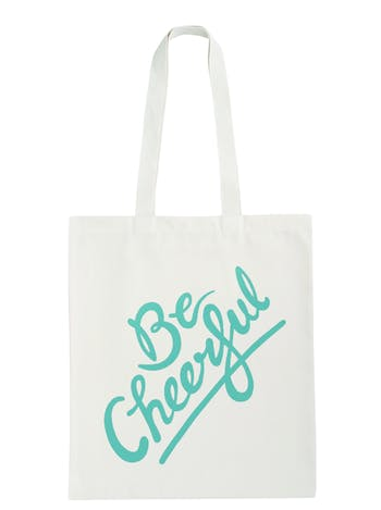 Be Cheerful Tote Bag | Cotton Tote Bag | Alphabet Bags
