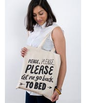 Back to Bed - Cotton Tote Bag