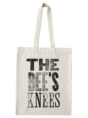The Bee's Knees Tote Bag | Canvas Reusable Bags | Alphabet Bags