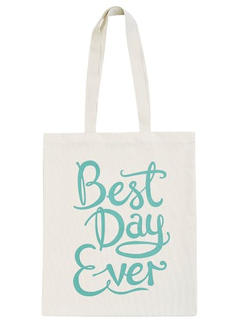 Best Day Ever Tote Bag | Celebration Canvas Bag | Alphabet Bags