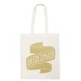 Bridesmaid Gold Glitter - Wedding Tote Bag