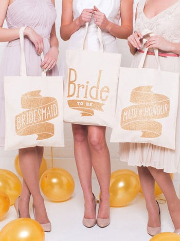 Bridesmaid Tote Bag | Wedding Tote Bag | Alphabet Bags