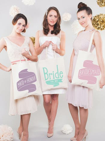 Bridesmaid Tote Bag | Wedding Day Bag | Alphabet Bags