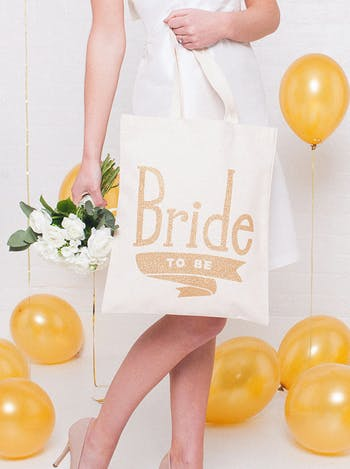 Bride to Be Tote Bag | Wedding Tote Bag | Alphabet Bags