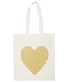 Heart Gold Glitter - Cotton Tote Bag