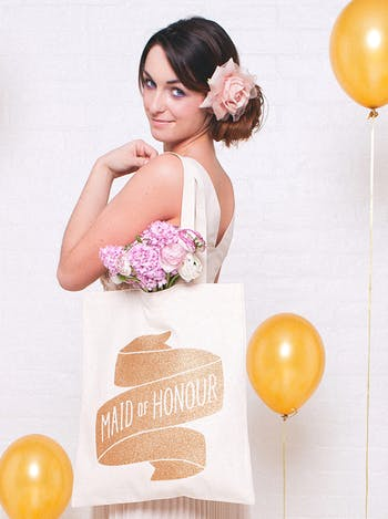 Maid of Honour Tote Bag | Wedding Tote Bag | Alphabet Bags