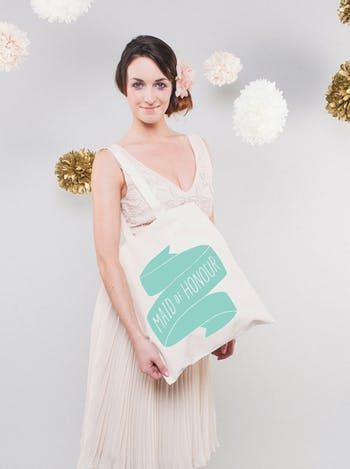 Maid of Honour Tote Bag | Wedding Day Bag | Alphabet Bags