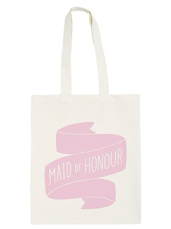 Maid of Honour Tote Bag | Bridesmaid Cotton Tote | Alphabet Bags