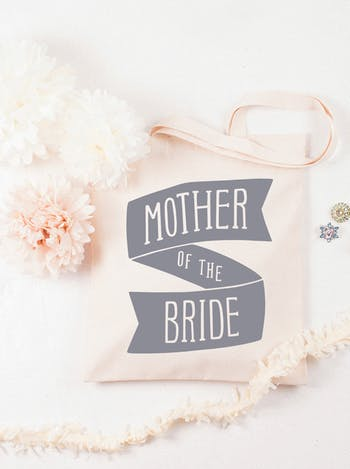 Mother of the Bride Tote Bag   Bridal Party Tote Bag   Alphabet Bags