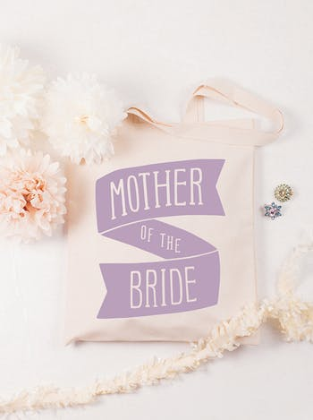 Mother of the Bride Tote Bag | Canvas Wedding Tote | Alphabet Bags