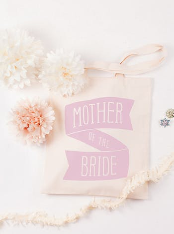 Mother of the Bride Tote Bag   Mother of the Bride Cotton Tote   Alphabet Bags