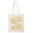 Mother of the Groom Gold Glitter - Wedding Tote Bag