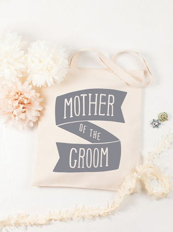 Mother of the Groom Tote Bag | Bridal Party Tote Bag | Alphabet Bags