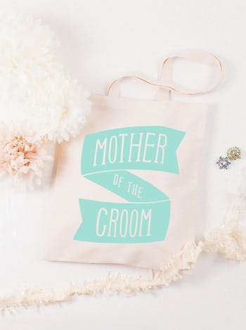 Mother of the Groom Tote Bag | Wedding Day Bag | Alphabet Bags