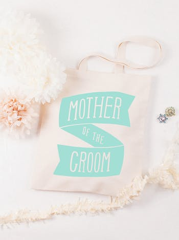 Mother of the Groom Tote Bag   Wedding Day Bag   Alphabet Bags