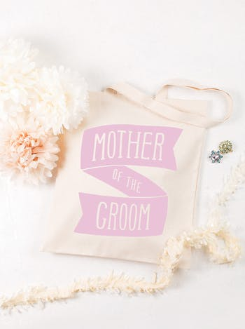 Mother of the Groom Tote Bag   Mother of the Groom Cotton Tote   Alphabet Bags