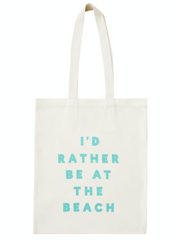 I'd Rather Be At The Beach Cotton Bag | Beach Totes | Alphabet Bags