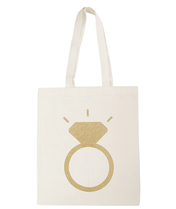 Ring Glitter - Wedding Tote Bag