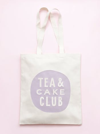 Tea & Cake Club Tote Bag | Dance Shoulder Bag | Alphabet Bags