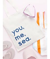 You, Me, Sea - Cotton Tote Bag