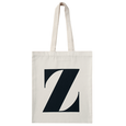 Initial Cotton Tote Bag - Natural