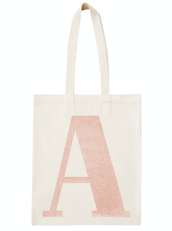 cfdd5de46 Rose Gold Personalised Initial Tote | Personalised Gifts for Her | Alphabet  Bags