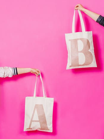 Rose Gold Personalised Initial Tote | Personalised Gifts for Her | Alphabet Bags