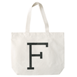 Initial Big Canvas Tote Bag