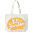 Hello Sunshine - Big Canvas Tote Bag
