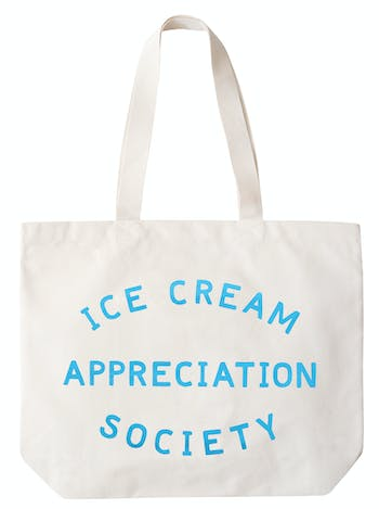 Ice Cream Appreciation Society Canvas Bag | Large Canvas Bag | Alphabet Bags