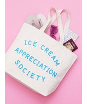 Ice Cream Appreciation Society - Big Canvas Tote Bag