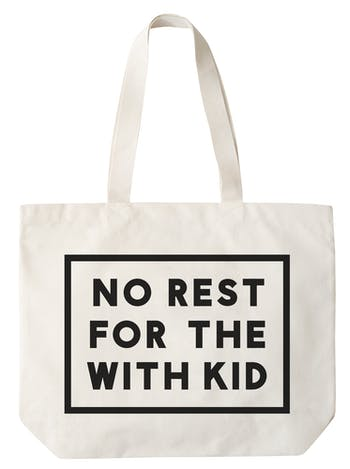 4bd1cd96d4 No Rest For The With kid Large Canvas Bag
